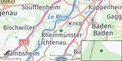 Google Map of Rheinmünster