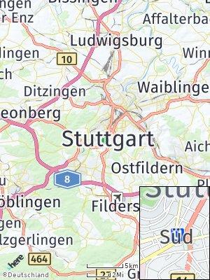 Here Map of Stuttgart-Süd