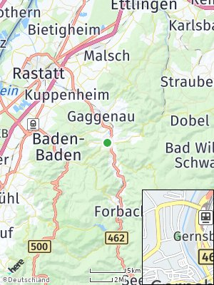 Here Map of Gernsbach