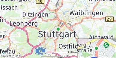 Google Map of Stuttgart