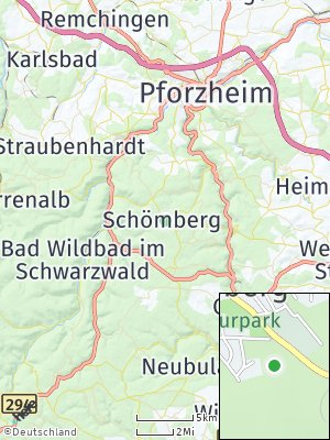 Here Map of Schömberg