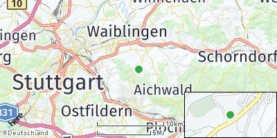 Google Map of Kernen im Remstal