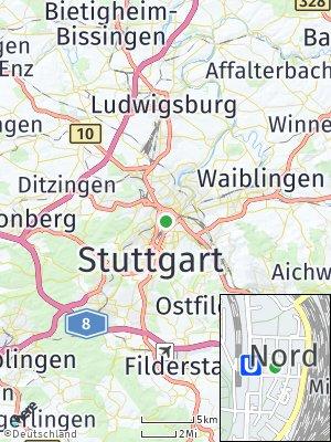 Here Map of Stuttgart-Nord