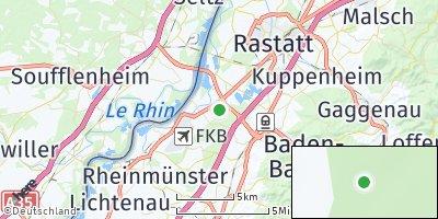 Google Map of Iffezheim