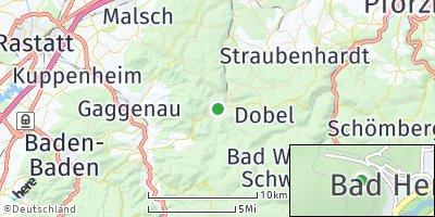 Google Map of Bad Herrenalb