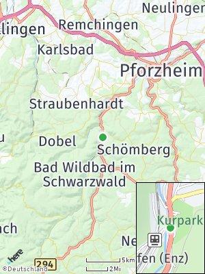 Here Map of Höfen an der Enz