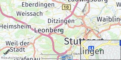 Google Map of Gerlingen