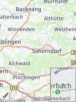 Here Map of Winterbach bei Schorndorf