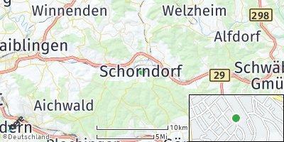 Google Map of Schorndorf