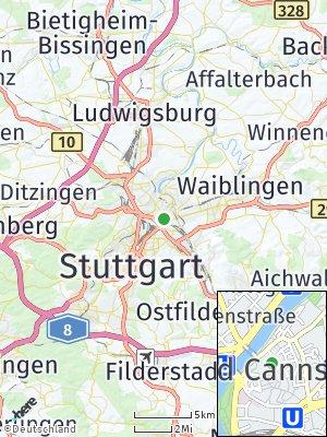 Here Map of Bad Cannstatt