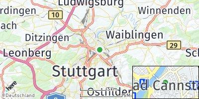Google Map of Bad Cannstatt