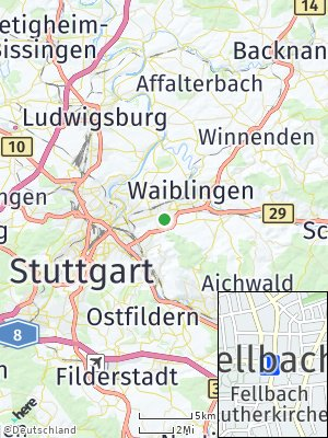 Here Map of Fellbach
