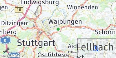 Google Map of Fellbach
