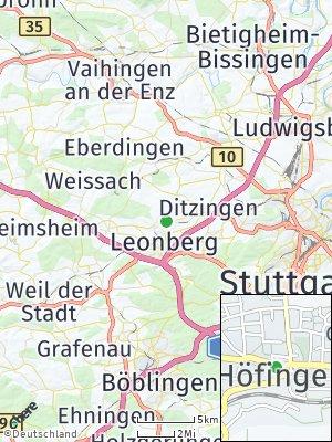 Here Map of Höfingen