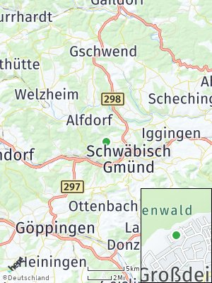Here Map of Großdeinbach