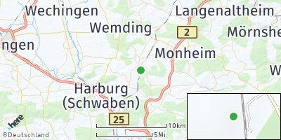 Google Map of Fünfstetten