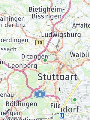 Here Map of Korntal-Münchingen