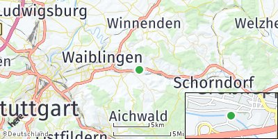 Google Map of Weinstadt
