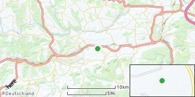 Google Map of Böbingen an der Rems