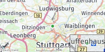 Google Map of Zuffenhausen