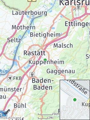Here Map of Kuppenheim