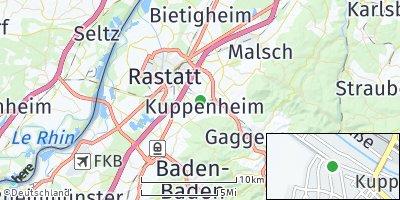 Google Map of Kuppenheim