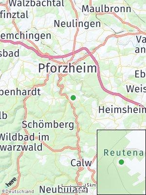Here Map of Unterreichenbach