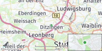 Google Map of Ditzingen