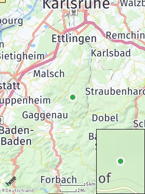 Here Map of Moosbronn
