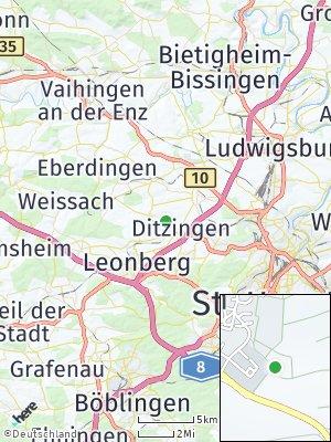 Here Map of Hirschlanden