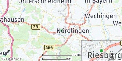 Google Map of Riesbürg