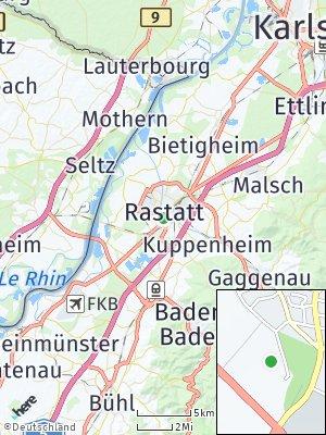 Here Map of Rastatt