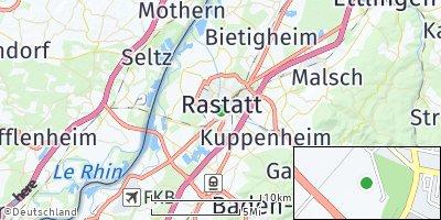 Google Map of Rastatt