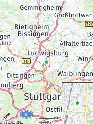 Here Map of Kornwestheim
