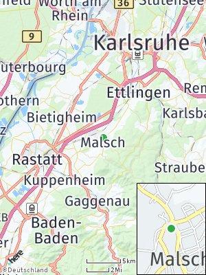Here Map of Malsch