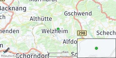 Google Map of Welzheim