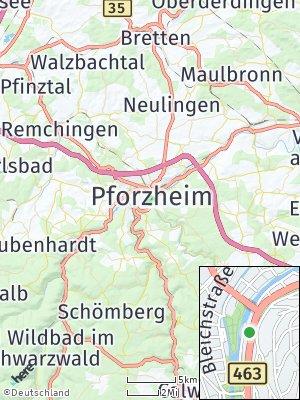 Here Map of Pforzheim
