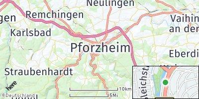 Google Map of Pforzheim