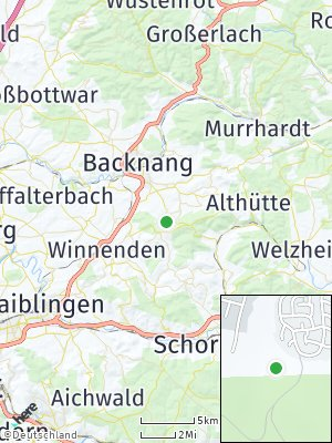 Here Map of Allmersbach im Tal