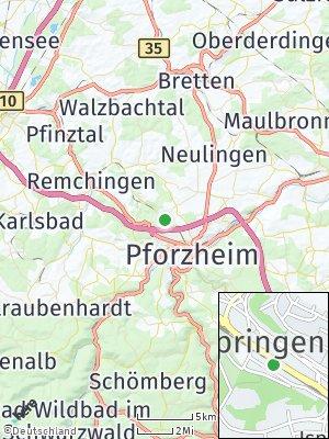 Here Map of Ispringen