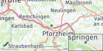 Google Map of Ispringen