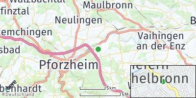Google Map of Niefern-Öschelbronn
