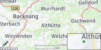 Google Map of Althütte
