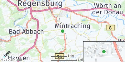 Google Map of Köfering bei Regensburg