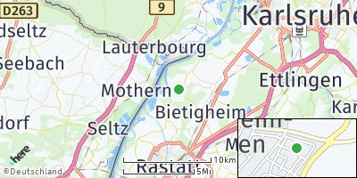 Google Map of Elchesheim-Illingen