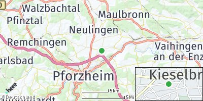 Google Map of Kieselbronn