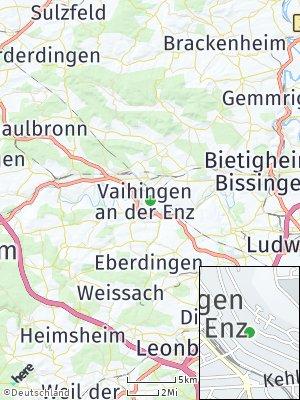 Here Map of Vaihingen an der Enz