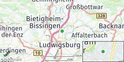 Google Map of Freiberg am Neckar