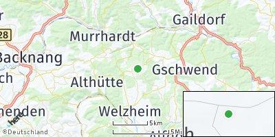 Google Map of Kaisersbach