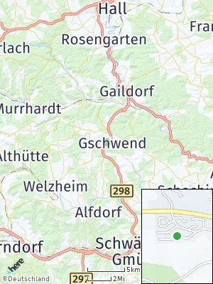 Here Map of Gschwend bei Gaildorf